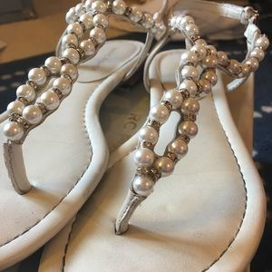 Marc Fisher Pearl And Gem Sandals